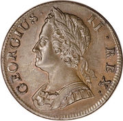 ½ Penny - George II (old bust) – obverse