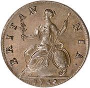 ½ Penny - George II (old bust) – reverse