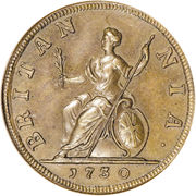 1 Farthing - George II (young bust) – reverse