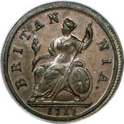 ½ Penny - George I ('Dump' issue) – reverse