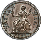 1 Farthing - Anne – reverse
