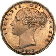 1 Farthing - Victoria (1st portrait; bronzed Proof) – obverse