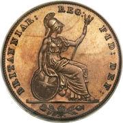 1 Farthing - Victoria (1st portrait; bronzed Proof) – reverse