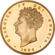 2 Pounds - George IV (Shield reverse) -  obverse