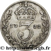 3 Pence - George V (2nd issue; incl. Maundy) -  reverse