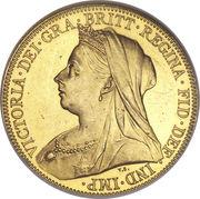 1 Sovereign - Victoria (3rd portrait) -  obverse
