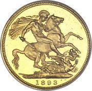 1 Sovereign - Victoria (3rd portrait) -  reverse