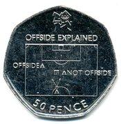 50 Pence - Elizabeth II (4th portrait; Football) -  reverse