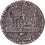 3 Pence (Worcestershire - Birmingham / Workhouse) – obverse