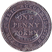 1 Penny (UCC Birmingham - Bradford Workhouse Overstamp) – reverse