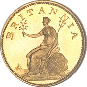 1 Farthing - George III (4th issue; Proof) – reverse