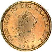 1 Farthing - George III (3rd issue; Proof) – obverse
