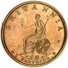 1 Farthing - George III (3rd issue; Proof) – reverse