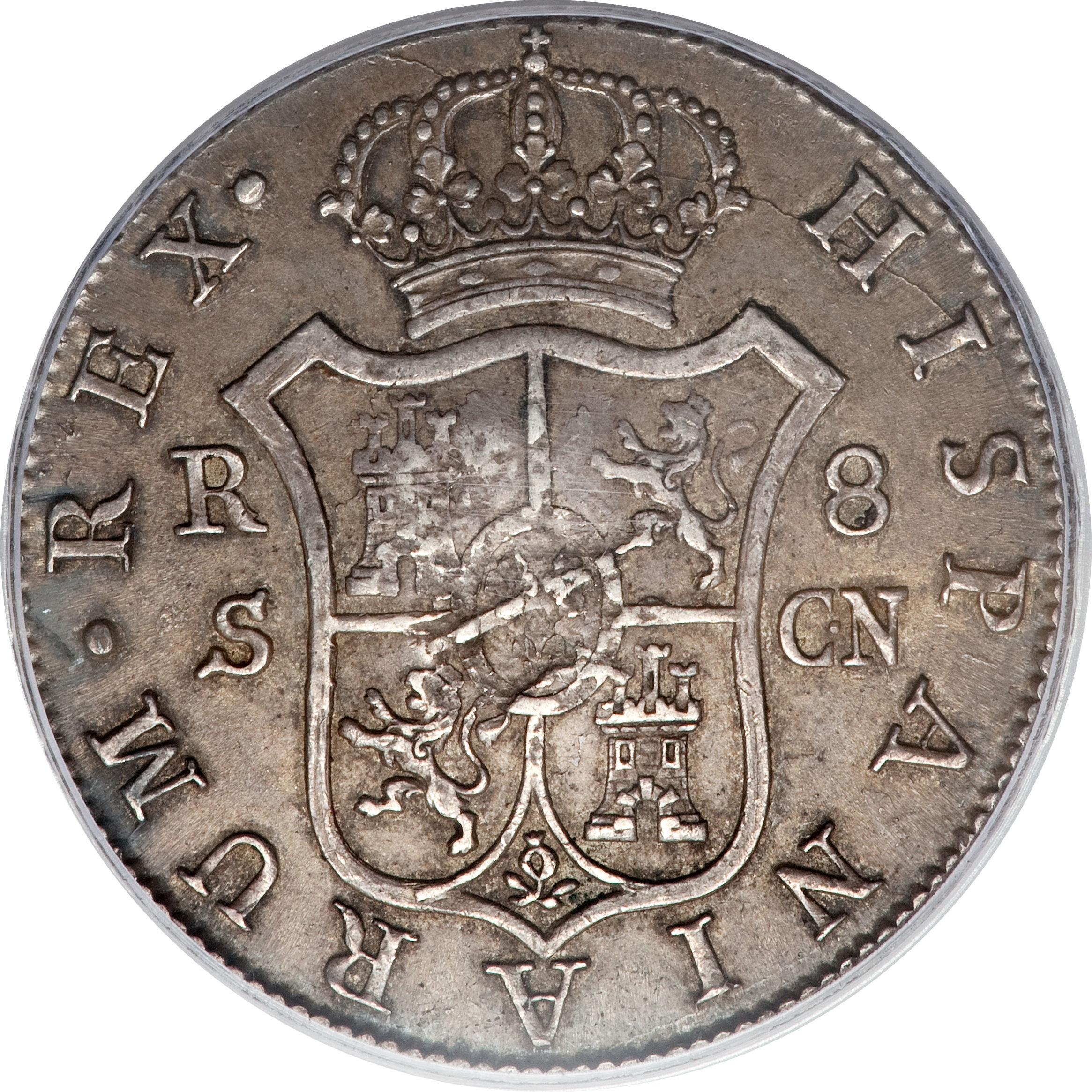 foto de 1 Dollar George III (Type II countermark; octagonal