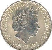 2 Pounds - Elizabeth II (4th portrait; 1 oz Fine Silver) -  obverse