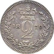 2 Pence - Victoria (1st portrait; Colonial and Maundy issues) -  reverse