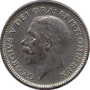6 Pence - George V (2nd coinage) -  obverse