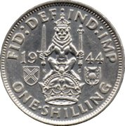 1 Shilling - George VI (Scottish crest; with 'IND:IMP') -  reverse