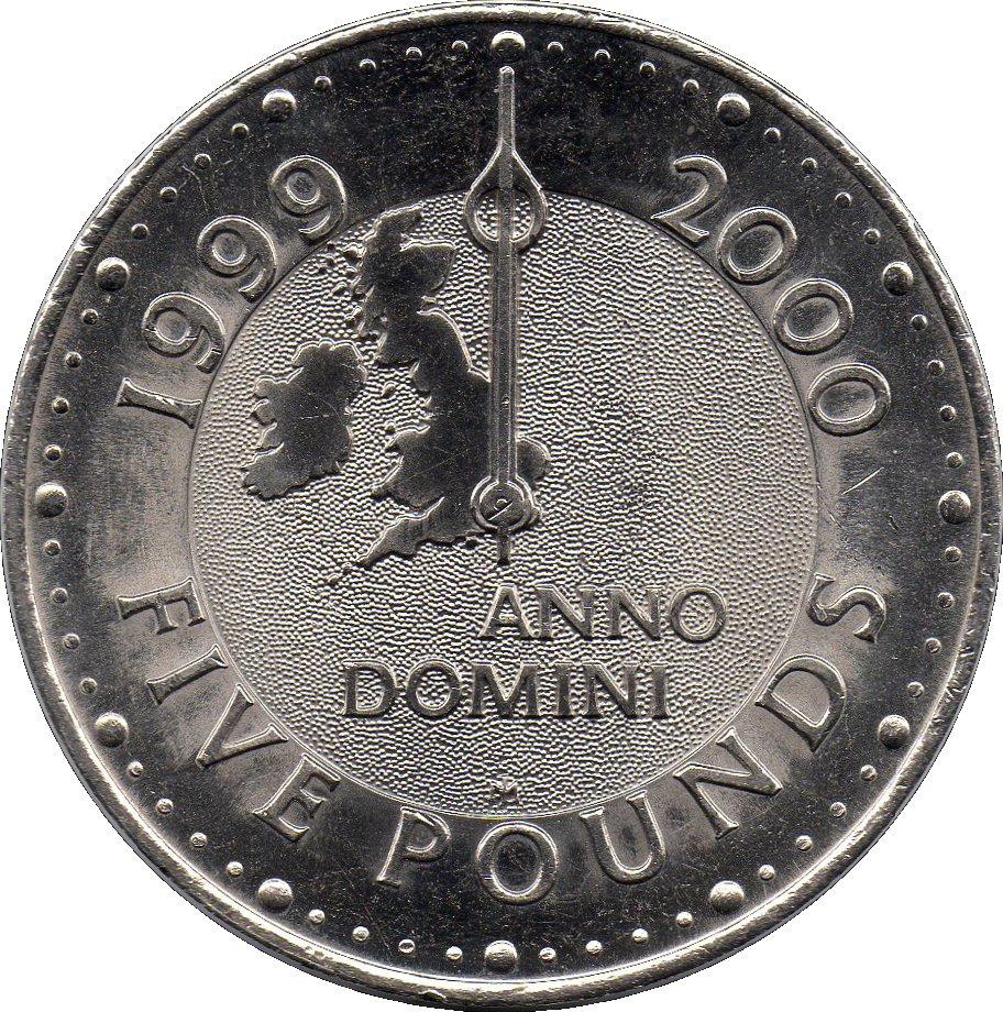 5 Pounds - Elizabeth II (4th portrait; Millennium ...
