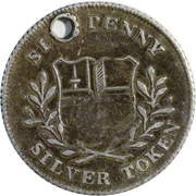 6 Pence (Middlesex - London / Charing Cross) – reverse
