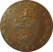 ½ Penny (Hampshire - Portsea / G. Sargeant) -  obverse