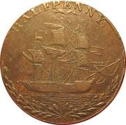 ½ Penny (Hampshire - Portsea / G. Sargeant) -  reverse