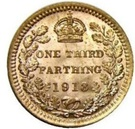 ⅓ Farthing - George V (Colonial issue) – reverse