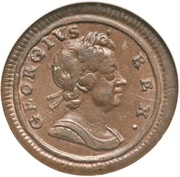 1 Farthing - George I (large planchet) – obverse