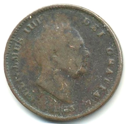 ⅓ Farthing - William IV Colonial issues