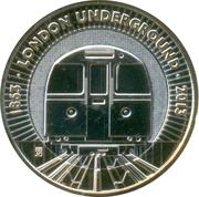 2 Pounds - Elizabeth II (4th portrait; The Train) -  reverse