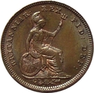 ⅓ Farthing - George IV (Colonial issues) – reverse