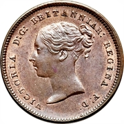 ½ Farthing - Victoria (1st portrait; incl. Colonial) – obverse
