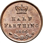 ½ Farthing - Victoria (1st portrait; incl. Colonial) -  reverse