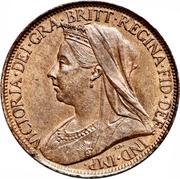 1 Farthing - Victoria (4th portrait) – obverse