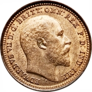 ⅓ Farthing - Edward VII (Colonial issue) – obverse