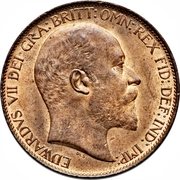 ½ Penny - Edward VII -  obverse