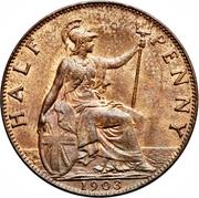 ½ Penny - Edward VII -  reverse
