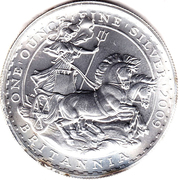 2 Pounds - Elizabeth II (4th portrait; 1 oz Fine Silver) -  reverse