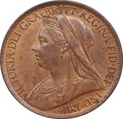 1 Penny - Victoria (3rd portrait) -  obverse