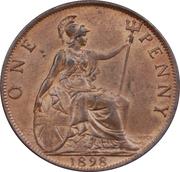 1 Penny - Victoria (3rd portrait) -  reverse
