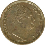 ½ Farthing - William IV – obverse