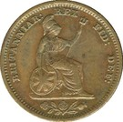 ½ Farthing - William IV (Colonial issue) – reverse