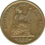 ½ Farthing - William IV – reverse