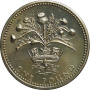 1 Pound - Elizabeth II (2nd portrait; Scottish Thistle) -  reverse