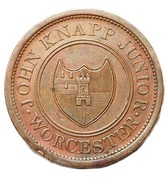 1 Penny (Worcestershire - Worcester / J. Knapp Jnr) – obverse