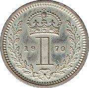 1 Penny - Elizabeth II (1st portrait; Maundy decimal) – reverse