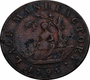 ½ Penny (Middlesex - Moore's Lace Manufactory) – obverse