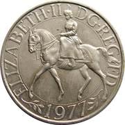 25 New Pence - Elizabeth II (Silver Jubilee) -  obverse