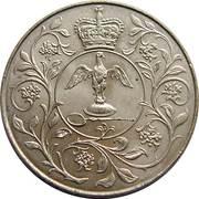 25 New Pence - Elizabeth II (Silver Jubilee) -  reverse