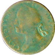 ½ Penny (Celestin II Pope - North Wales) -  obverse